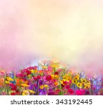 Abstract Art Oil Painting Of...