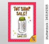toy shop bright vector sale... | Shutterstock .eps vector #343192505