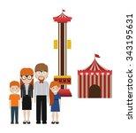 happy family design  vector... | Shutterstock .eps vector #343195631