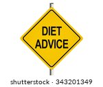 diet advice. road sign on the... | Shutterstock . vector #343201349
