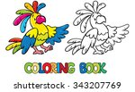 coloring book or coloring... | Shutterstock .eps vector #343207769