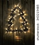 glowing christmas tree made of... | Shutterstock .eps vector #343215485