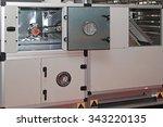 air handling unit in central... | Shutterstock . vector #343220135