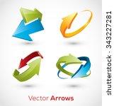 abstract arrow icon. logo sign... | Shutterstock .eps vector #343227281