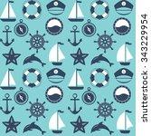 seamless marine pattern. sea...   Shutterstock . vector #343229954