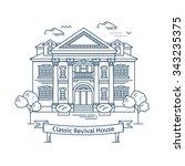 real estate market concept flat ... | Shutterstock .eps vector #343235375