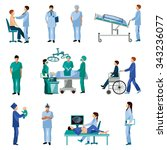 medical professionals at work... | Shutterstock .eps vector #343236077