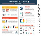emergency paramedic infographic ... | Shutterstock .eps vector #343236095