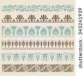 decorative seamless borders set | Shutterstock .eps vector #343241939