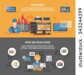 hotline computer repair and... | Shutterstock .eps vector #343244399