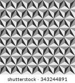 tetrahedrons pattern vector ... | Shutterstock .eps vector #343244891