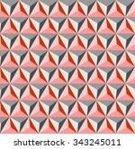 tetrahedrons pattern vector in... | Shutterstock .eps vector #343245011
