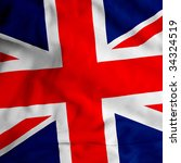 cloth texture uk flag | Shutterstock . vector #34324519