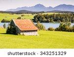 Barn At Lake Riegsee In Bavari...