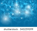 blue christmas background....   Shutterstock . vector #343259399