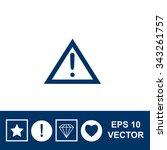exclamation mark vector icon.