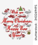 typographical greeting card.... | Shutterstock .eps vector #343269491
