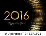 vector   2016 happy new year... | Shutterstock .eps vector #343271921