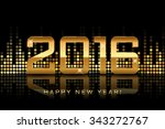 vector   happy new year 2016  ... | Shutterstock .eps vector #343272767
