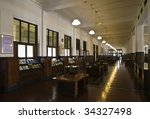 colonial bank interior | Shutterstock . vector #34327498