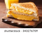 grilled cheese sandwich for... | Shutterstock . vector #343276709