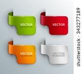 vector banners set. | Shutterstock .eps vector #343277189