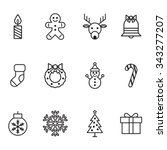 christmas icons | Shutterstock .eps vector #343277207