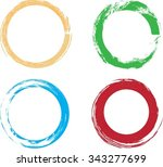 colorful vector set with... | Shutterstock .eps vector #343277699