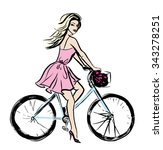 fashion illustration of young... | Shutterstock . vector #343278251