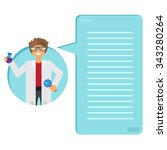 scientist learning substance in ... | Shutterstock .eps vector #343280264