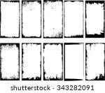 grunge frame set. vector... | Shutterstock .eps vector #343282091