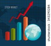 stock market and exchange... | Shutterstock .eps vector #343290284