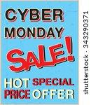 cyber monday sale brochures ... | Shutterstock .eps vector #343290371