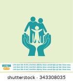 family life insurance sign icon.... | Shutterstock .eps vector #343308035