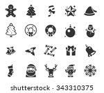 christmas icon set | Shutterstock .eps vector #343310375