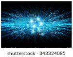 dark blue color light abstract... | Shutterstock . vector #343324085