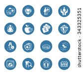 medical and health care icons... | Shutterstock .eps vector #343325351