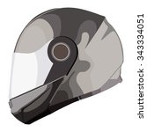 motorcycle helmet on a white...   Shutterstock . vector #343334051