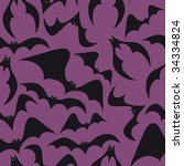 spooky bat seamless background... | Shutterstock .eps vector #34334824