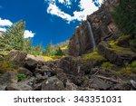 Bridal Veil Falls Telluride Colorado box canyon Fall Foliage USA Landscapes