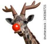Funny Giraffe Face Dressed As...