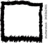grunge frame. vector template | Shutterstock .eps vector #343362401