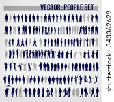 vector business people... | Shutterstock .eps vector #343362629