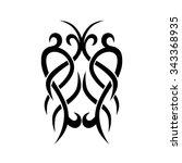 tattoo tribal vector designs....   Shutterstock .eps vector #343368935