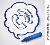 doodle phone   Shutterstock .eps vector #343374767