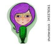 colorful cute original zodiac... | Shutterstock .eps vector #343378361