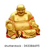 smiling buddha with isolated... | Shutterstock . vector #343386695