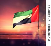 beautiful uae national day... | Shutterstock . vector #343388489