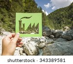 green conservation concept | Shutterstock . vector #343389581