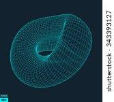 lattice geometric polygonal... | Shutterstock .eps vector #343393127
